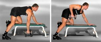 Traction of dumbbells in the slope
