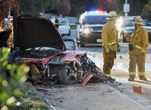 Fast & Furious star Paul Walker dead in fiery car wreck: Actor killed after Porsche GT driven by his friend crashed into pole