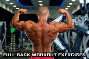 Full Back Workout exercises