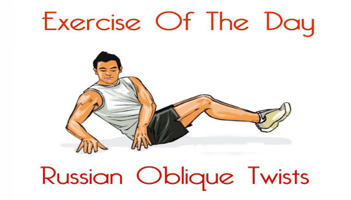 Exercise Of The Day: RUSSIAN OBLIQUE TWISTS