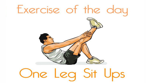 Exercise Of The Day: ONE LEG SIT UPS