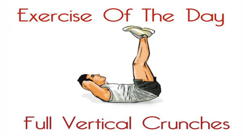 Exercise Of The Day: FULL VERTICAL CRUNCHES