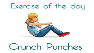 Exercise Of The Day: CRUNCH PUNCHES