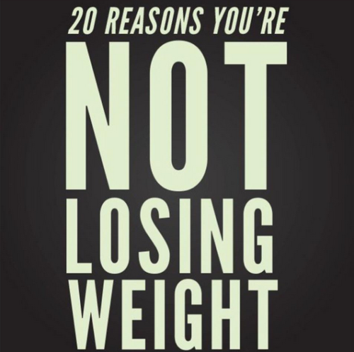 20 Reasons You're Not Losing Weight