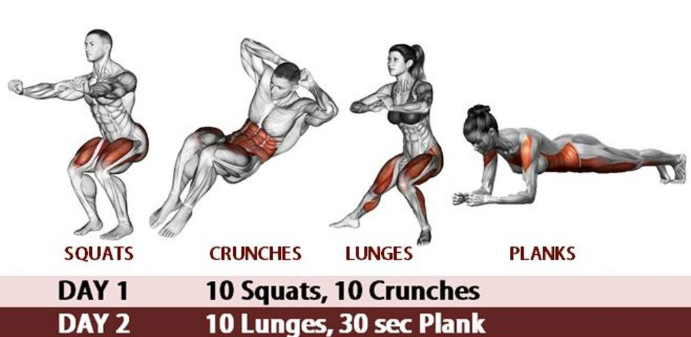 Transform Your Body 30 Day Butt And Abs Workout