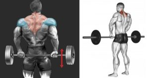 Front Barbell Shrugs vs. Behind-the-Back Shrugs