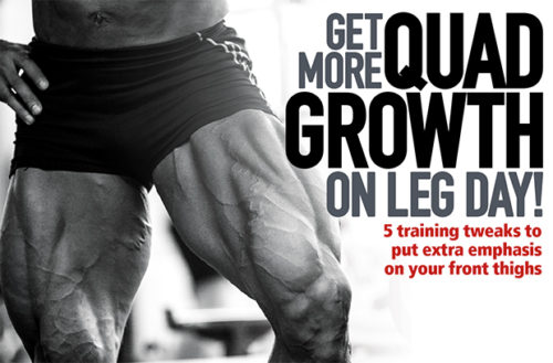 5 Training Tweaks To Get More Quads Growth On Leg Day!